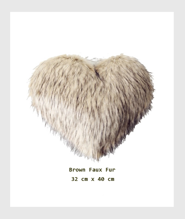 SF16-HHD008CC - Heart Shape Faux Fur Cushion/心形人造皮草靠墊