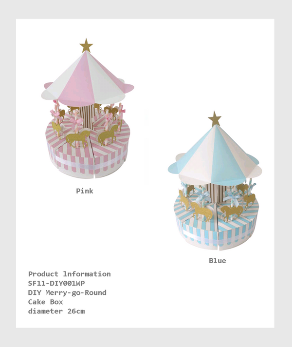 SF11-DIY001WP - DIY Merry-go-Round Cake Box/ 自組旋轉木馬蛋糕盒