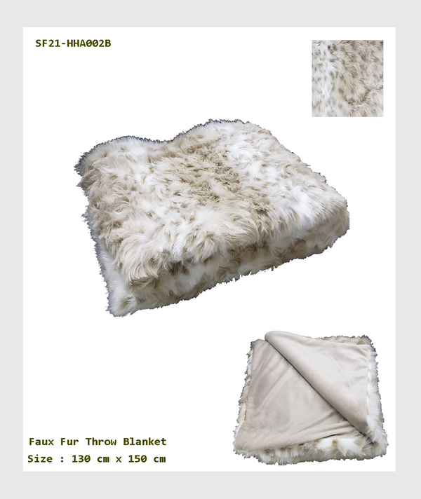 SF21-HHA002B - Faux Fur Throw Blanket/人造皮草毯