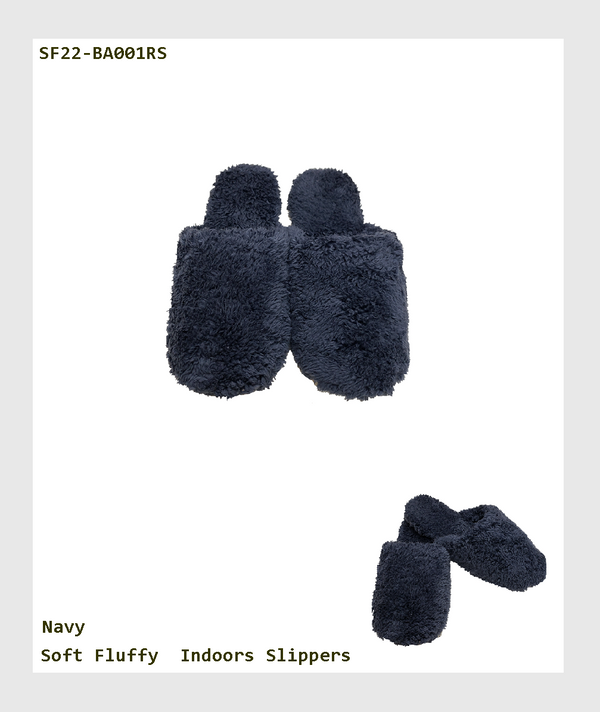 SF22-BA001RS - Soft Fluffy  Indoors Slippers /室內柔軟毛毛拖鞋