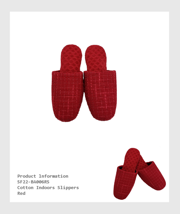 SF22-BA006RS -   Cotton Indoors Slippers/室內棉拖鞋