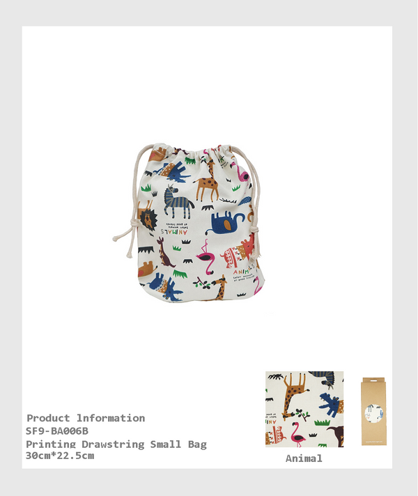 SF9-BA006B - Printing Drawstring Small Bag/ 印花抽繩小包