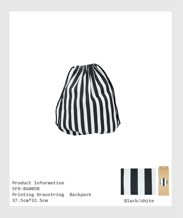 SF9-BA005B - Printing Drawstring  Backpack /印花抽繩背包