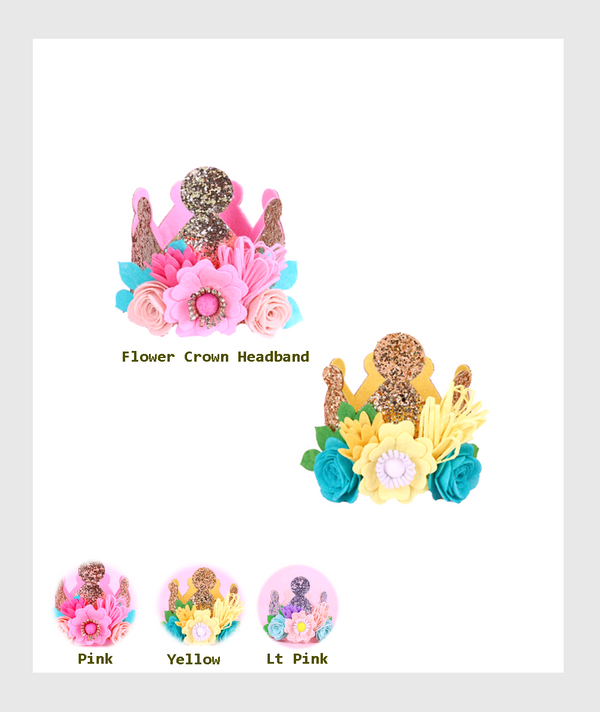 SF11-DIY003WP - 3 D Flower Crown Birthday Hat / 3D花朵皇冠生日帽