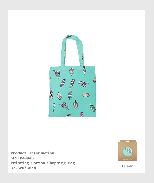 SF9-BA004B - Printing Cotton Shopping Bag/印花棉布購物袋