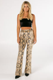 The Sunset Snakeskin Flare Pants