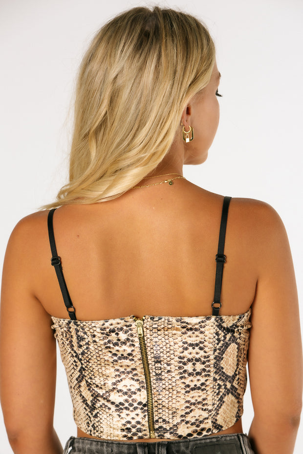 The Sunset Snakeskin Crop Top