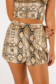 The Sunset Snakeskin Shorts