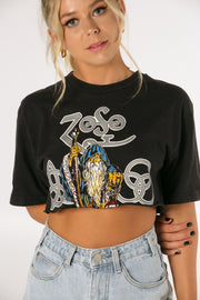 Led Zeppelin Band Crop Tee