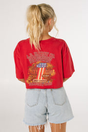 Harley Davidson Sunbury Red Crop Tee
