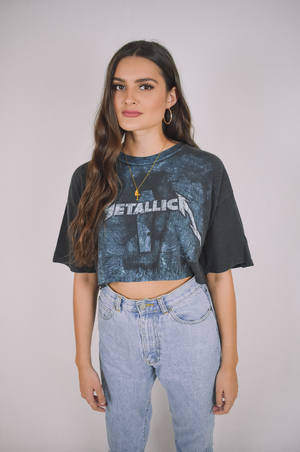 Metallica Band Crop Tee