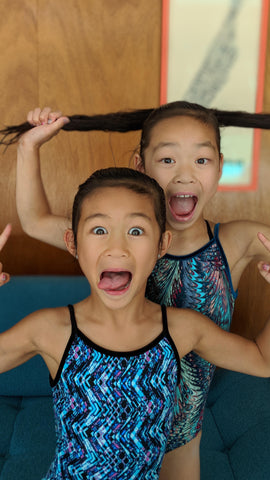 Anabelle and her Sister in their favorite leotards