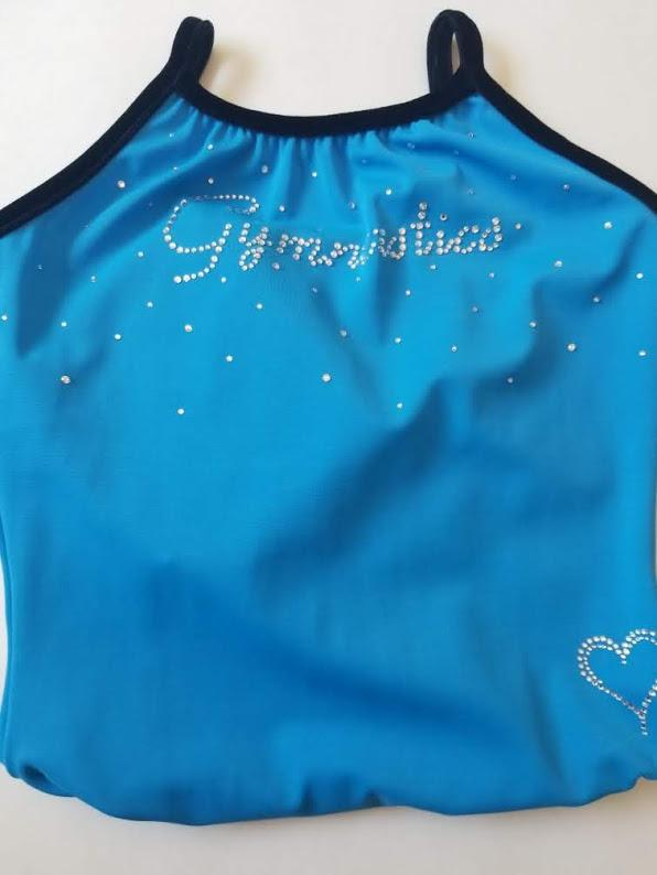 I Heart Gymnastics Surf Blue
