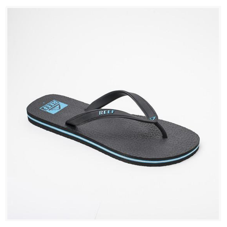REEF Trinidad Logos Thongs - Black/Blue/White