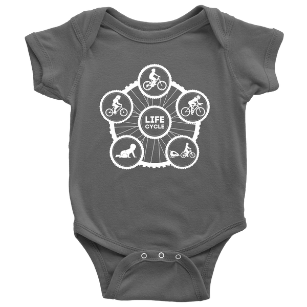"The ""Life Cycle - Girl"" Onesie (White Graphic)"