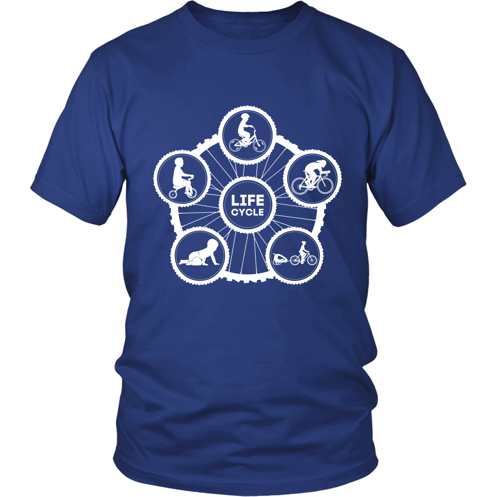 "The ""Life Cycle - Dad"" T-Shirt (Men's - White Graphic)"