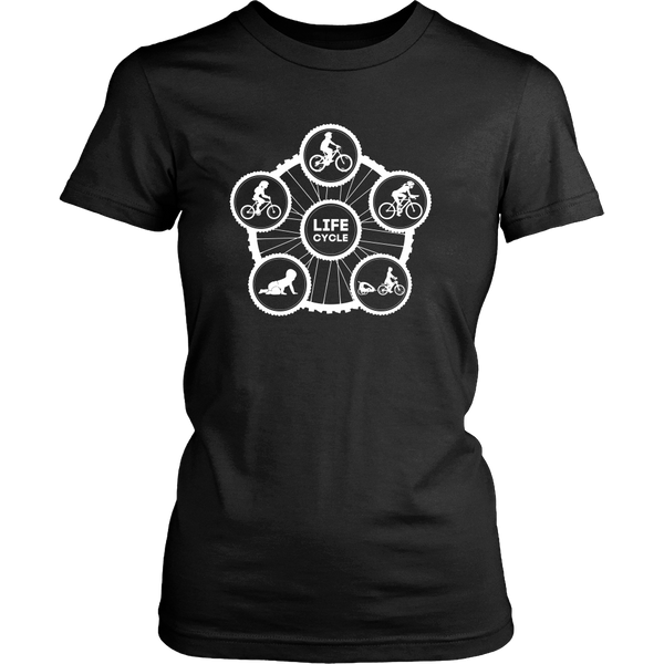 "The ""Life Cycle - Mom"" T-Shirt (Women's - White Graphic)"