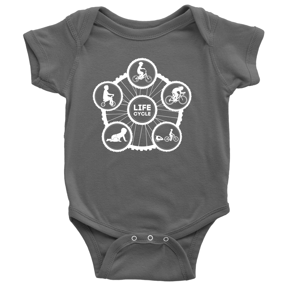 "The ""Life Cycle - Boy"" Onesie (White Graphic)"