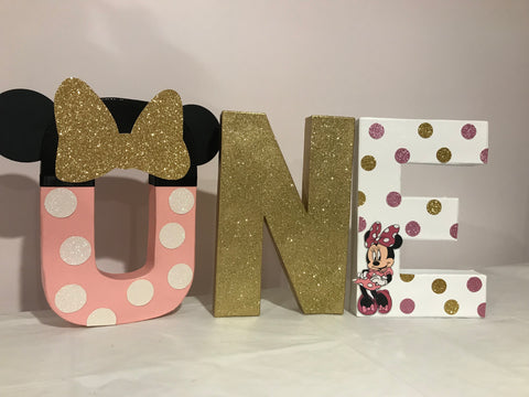 Minnie Mouse Polkadot Decorated Age Words