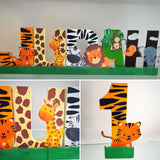 Jungle Animals Safari Decorated Age Words