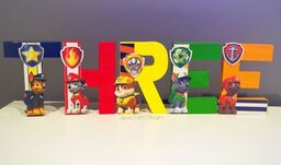 Paw Patrol Decorated Names