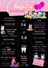Disney Babies Birthday Party Milestone Poster