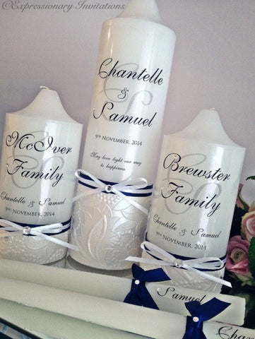 Wedding Unity Candle Set WC2