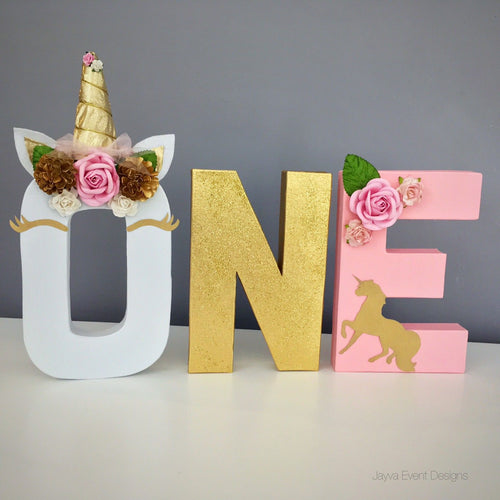 Unicorn Charming Theme Decorated Age Words