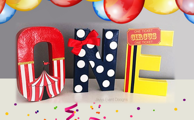 Circus Carnival Theme Decorated Age Words