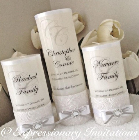 Wedding Unity Candle Set WC3