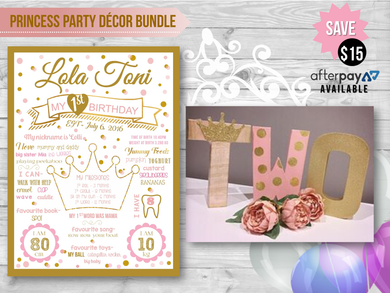 Princess Party Decor Bundle