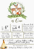 Woodland Birthday Party Milestone Poster