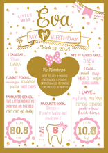 Minnie Mouse Gold Birthday Party Milestone Poster