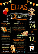 Tigger Birthday Party Milestone Poster
