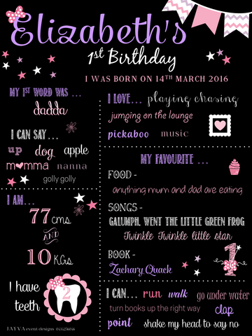 Minnie Mouse Purple Theme Birthday Party Milestone Poster