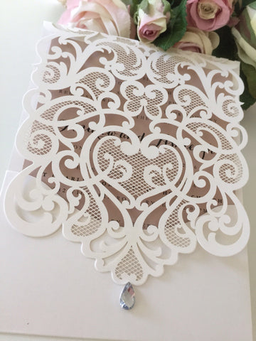 Laser Cut Invitation Design LD02
