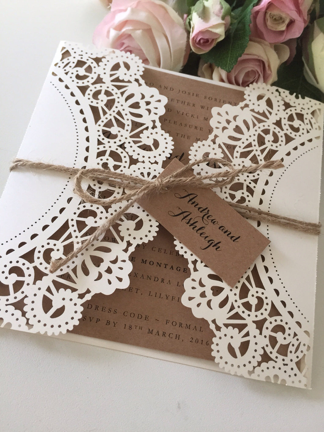 Laser Cut Invitation Design LD05