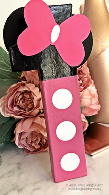 Classic Minnie Mouse Theme Decorated Letter