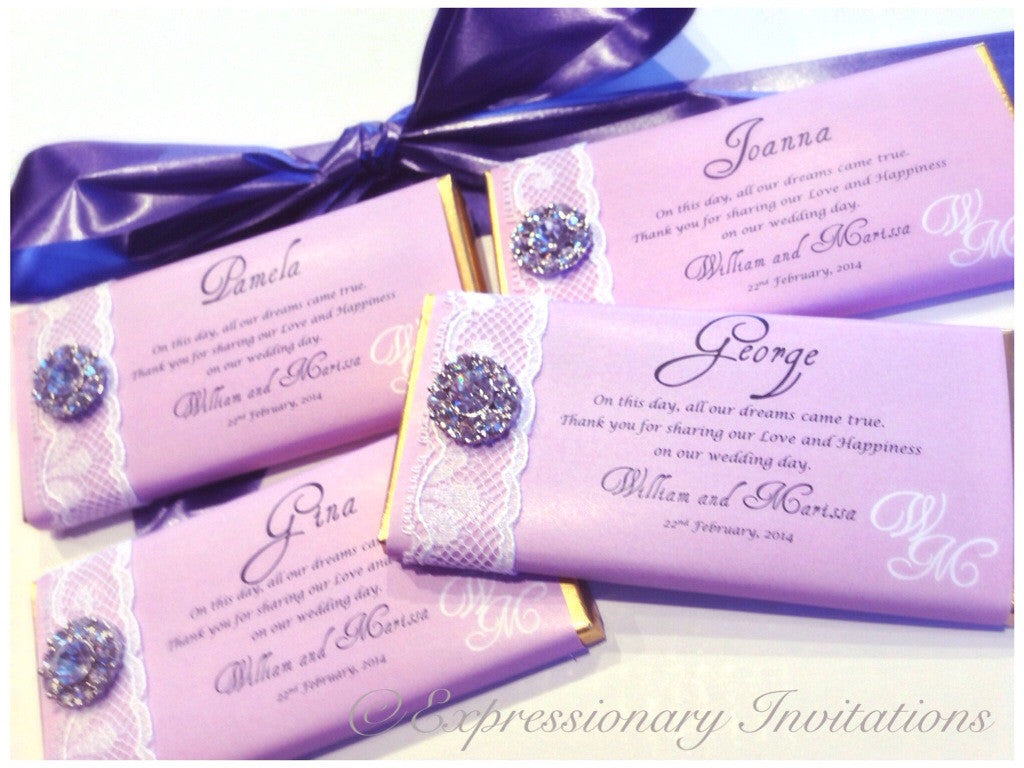 Chocolate Bar Embellished Wrapper - 10 pack