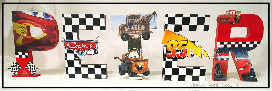 Disney Cars_Lightning McQueen Decorated Names