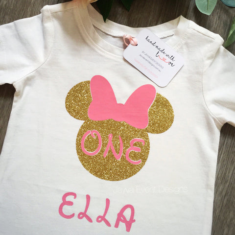 Minnie Mouse Personalised Shirt