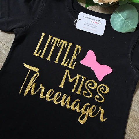 Little Miss Threenager Shirt