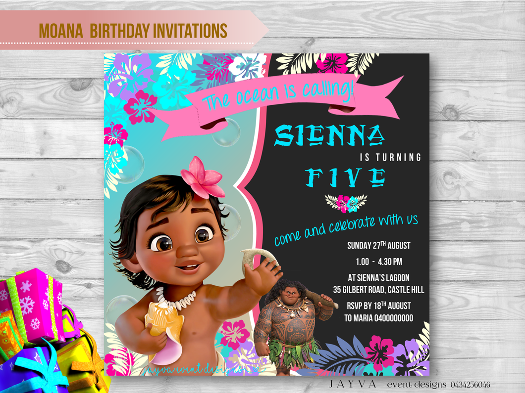 Moana Children's Birthday Invitations