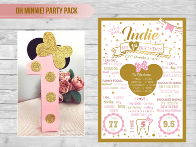 Oh Minnie! Party Pack-Gold