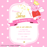 Peppa Pig Children's Birthday Invitations