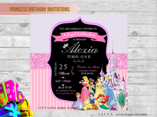 Disney Princess Children's Birthday Invitations