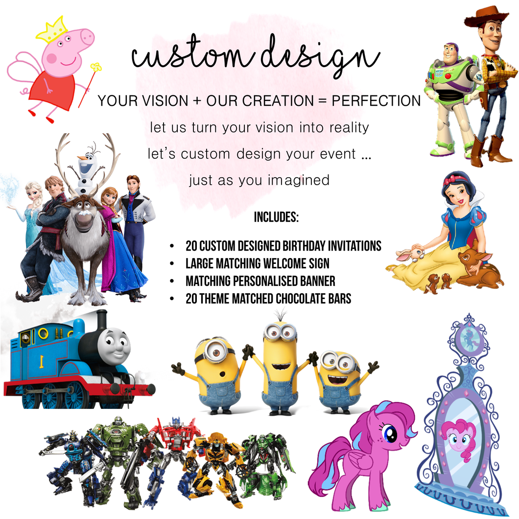Custom Design Theme Party Pack