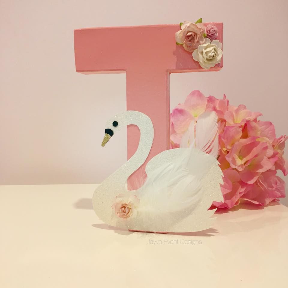 Graceful Swan Decorated Letter