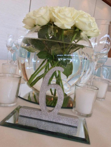 Wedding Reception Glitter Table Numbers