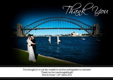 Photo and Thank You verse Thank You Cards